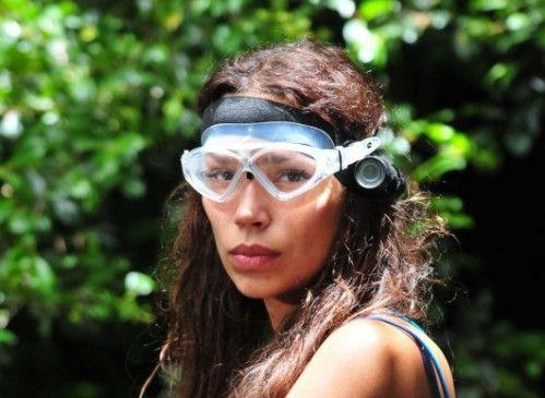 """Gisele Oppermann hat schlechte Laune. Auf die Dschungelprüfung """"Alarm in Cobra 11"""" hat sie so gar keine Lust."""
