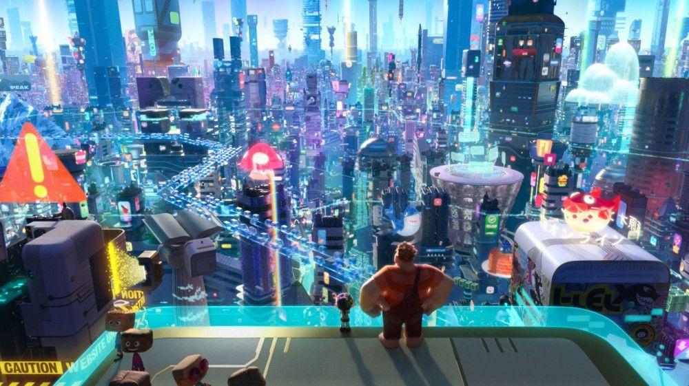 """Das Internet als Mega-City: Disney macht in """"Chaos im Netz"""" aus dem World Wide Web eine Milliarden-Stadt."""
