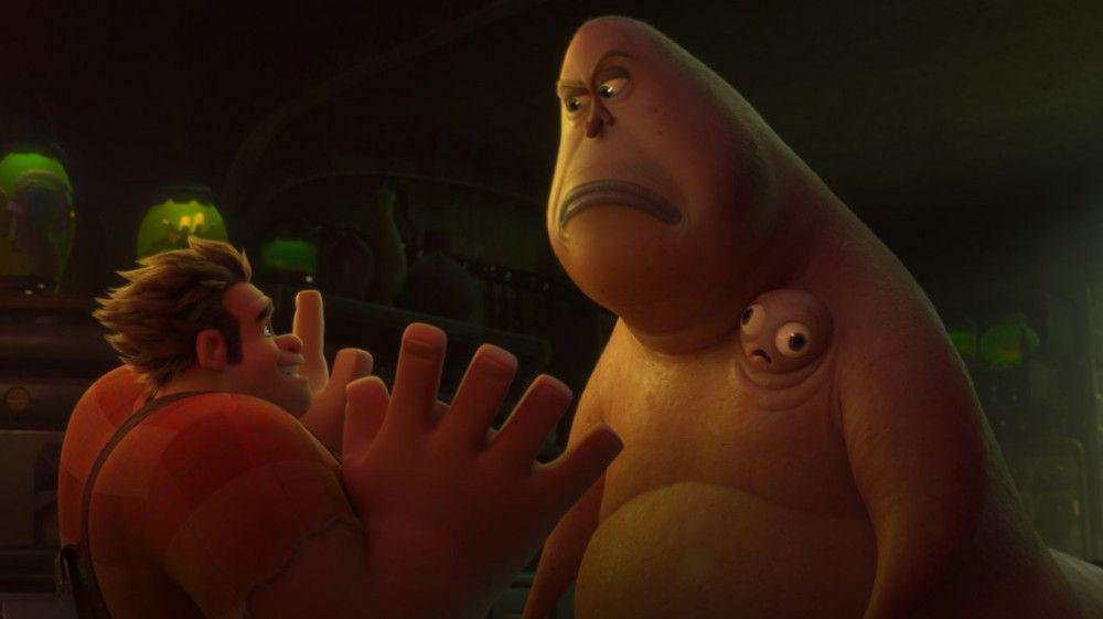 Gruselig wird es im Dark Web: Ralph trifft auf den schleimigen Koloss Double Dan.