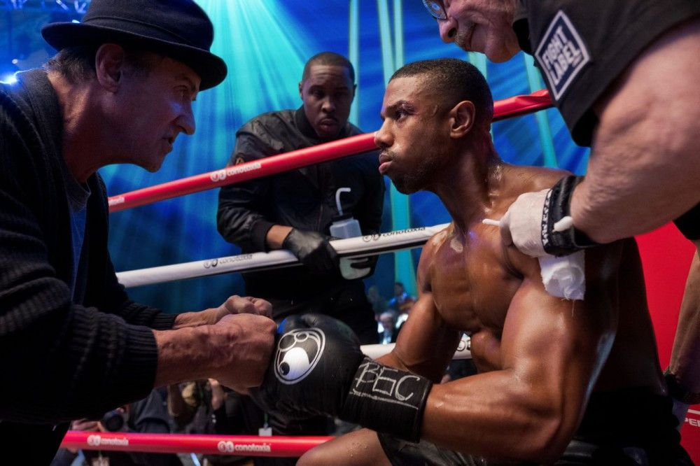 Im Ring: Adonis Creed (Michael B. Jordan, rechts) und sein Mentor Rocky Balboa (Sylvester Stallone).