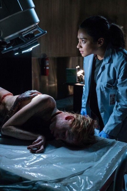 Megan Reed (Shay Mitchell) bekommt eine übel zugerichtete Leiche (Kirby Johnson), wie nicht so tot ist, wie es scheint.