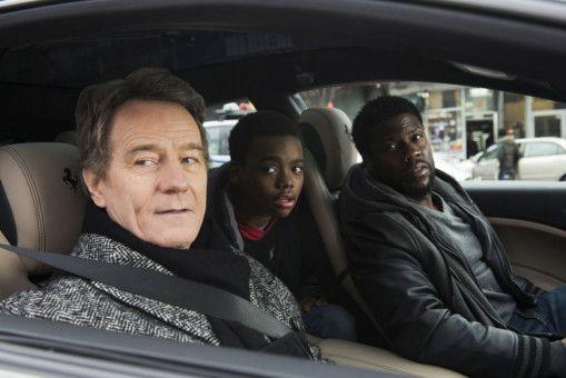 Phillip (Bryan Cranston, links), Dells Sohn Anthony (Jahi Di'Allo Winston) und Dell (Kevin Hart) unternehmen einen Ausflug.