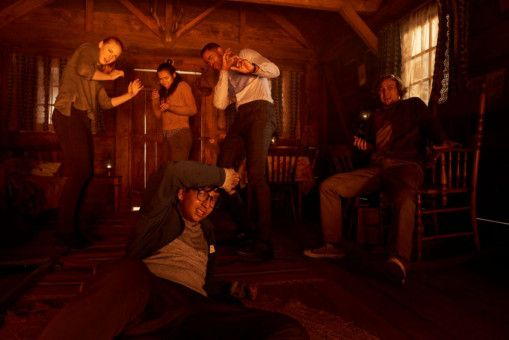 Amanda (Deborah Ann Woll), Zoey (Taylor Russell), Jason (Jay Ellis), Ben (Logan Miller) und Danny (Nick Dodani, von links) kämpfen um ihr Leben.