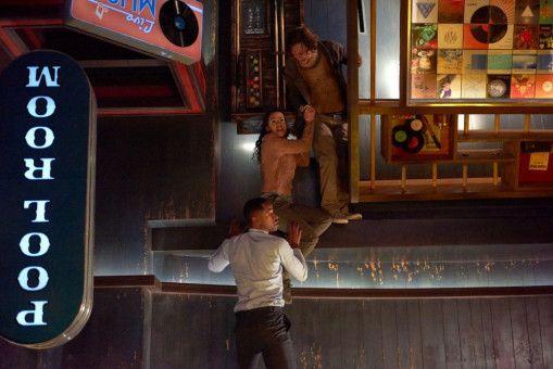 """Sie sind Stars und wollen da raus: Jay Ellis, Taylor Russell und Logan Miller in """"Escape Room""""."""