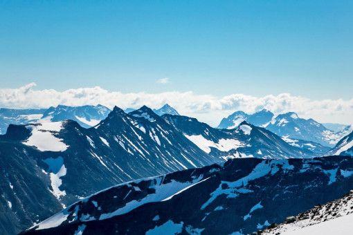 Der schroffe, aber wunderschöne Galdhøpiggen in Norwegen.