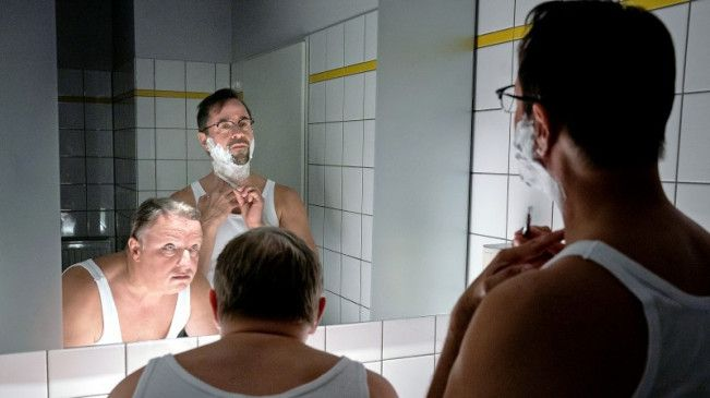 Spieglein, Spieglein: Thiel (l.) und Boerne suchen ihre Doppelgänger.