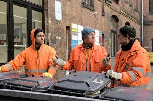Echte Typen: Werner ist sich mit seinen Kollegen Tarik (links) und Ralle (rechts) nicht immer einig.