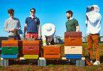 """Hobby Honig: Das Team von """"There is a bee on the roof"""" hat das 1x1 der Bienenhaltung von Imkern gelernt."""