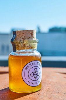 Goldgelbe Ernte: Verkauft wird der Honig in Hamburg.
