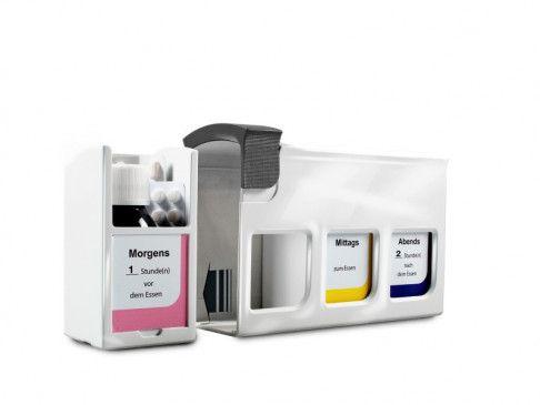 Die Patientenbox Meditimer hilft bei der Medikamenten-Einnahme.