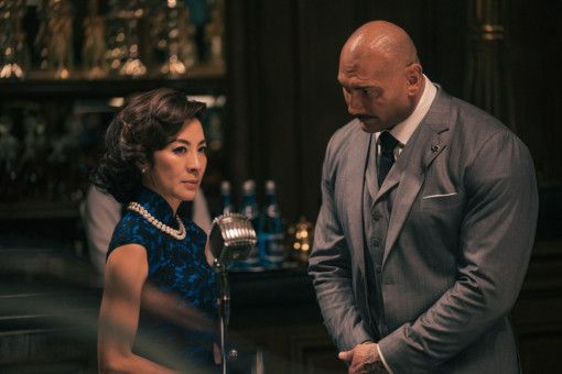 "Geballte Starpower: Michelle Yeoh und Dave Bautista in ""Master Z: The Ip Man Legacy""."