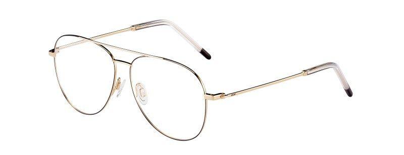 Souveräne Extravaganz: Doppelsteg-Brille, gesehen bei Joop.