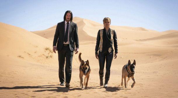 John Wick (Keanu Reeves) und Sofia (Halle Berry) haben ein Faible für Hunde. Und sie haben gemeinsame Feinde.