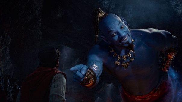 """Will Smith gibt in """"Aladdin"""" den blauen Dschinni."""