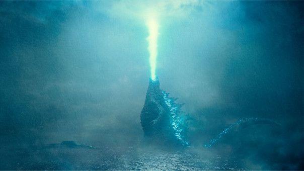 Sieht aus wie ein Vulkan, ist aber eine Echse: Godzilla in Aktion.