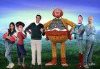 Gruppenbild mit Fellwesen: Collien Ulmen-Fernandes, Bastian Pastewka und Christoph Maria Herbst (rechts) mit ihren Filmfiguren.