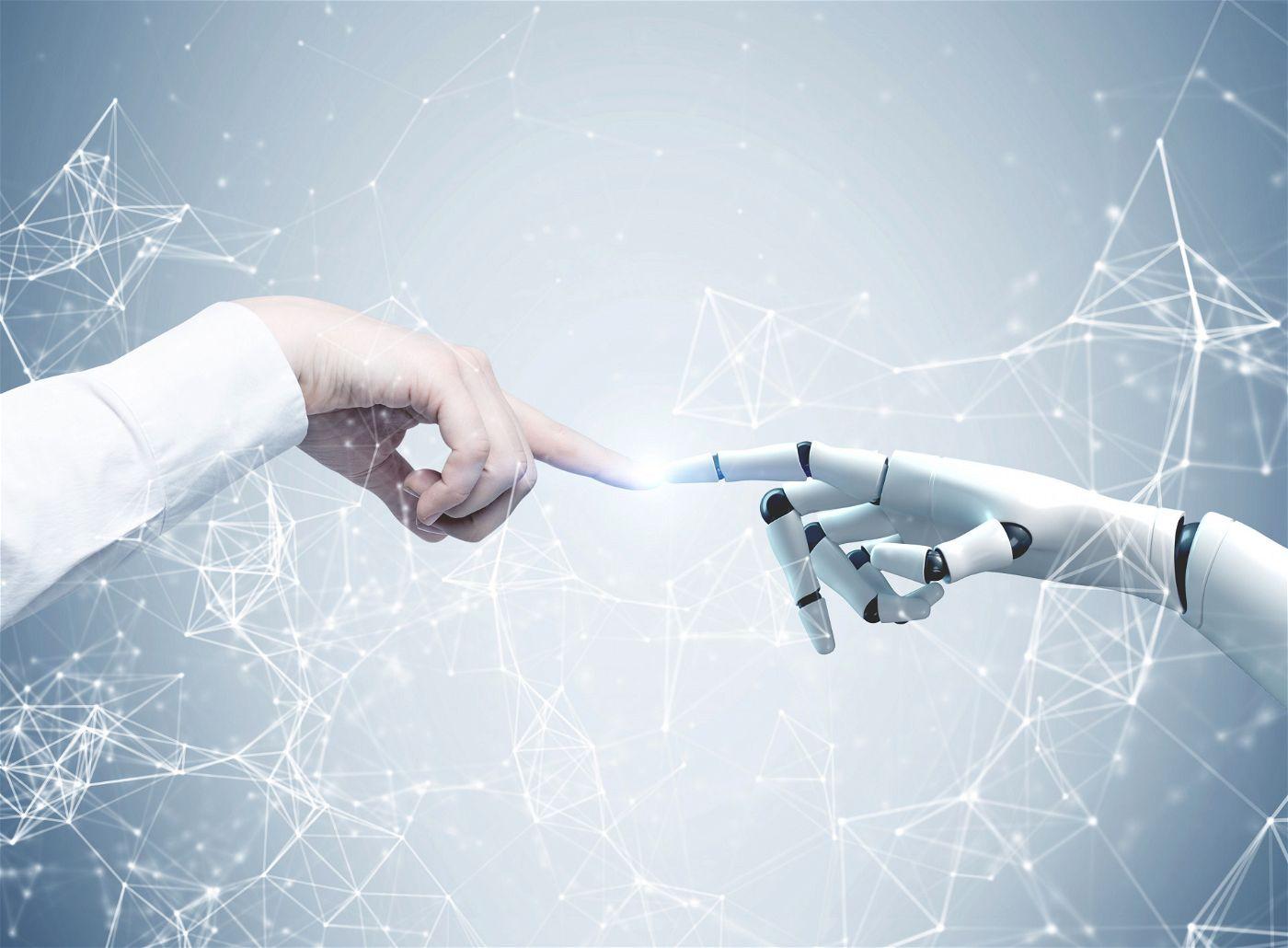 Hand in Hand: Intelligente Maschinen stiften vielfältigen Nutzen in der Arbeitswelt.