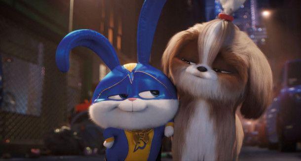 Der liebenswert größenwahnsinnige Captain Snowball (links) und die mutige Shih-Tzu-Dame Daisy ziehen gemeinsam los, um ein weißes Tigerbaby zu befreien.