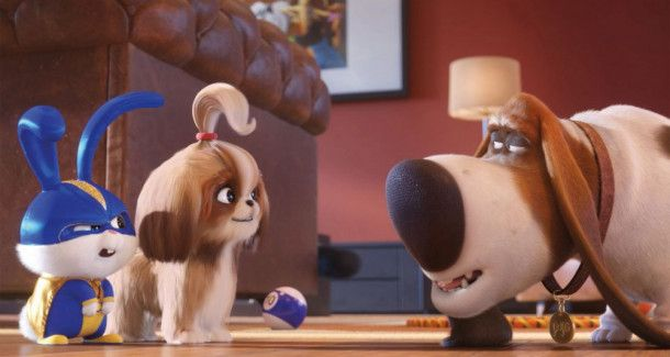 Captain Snowball (links) und Daisy bitten Pops um Hilfe.