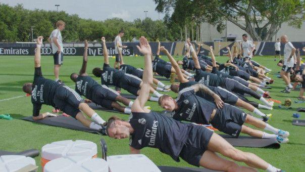 Auf zu neuen Titeln: Im Training bei Real Madrid arbeitet Toni Kroos an seiner körperlichen Verfassung.