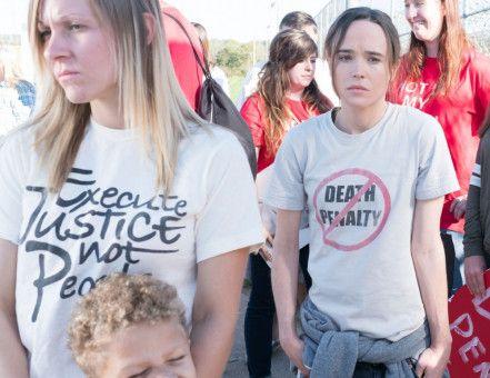 Lucy (Ellen Page, rechts) ist erschöpft von den Protesten gegen die Todesstrafe - und dem Kampf um das Leben ihres Vaters.