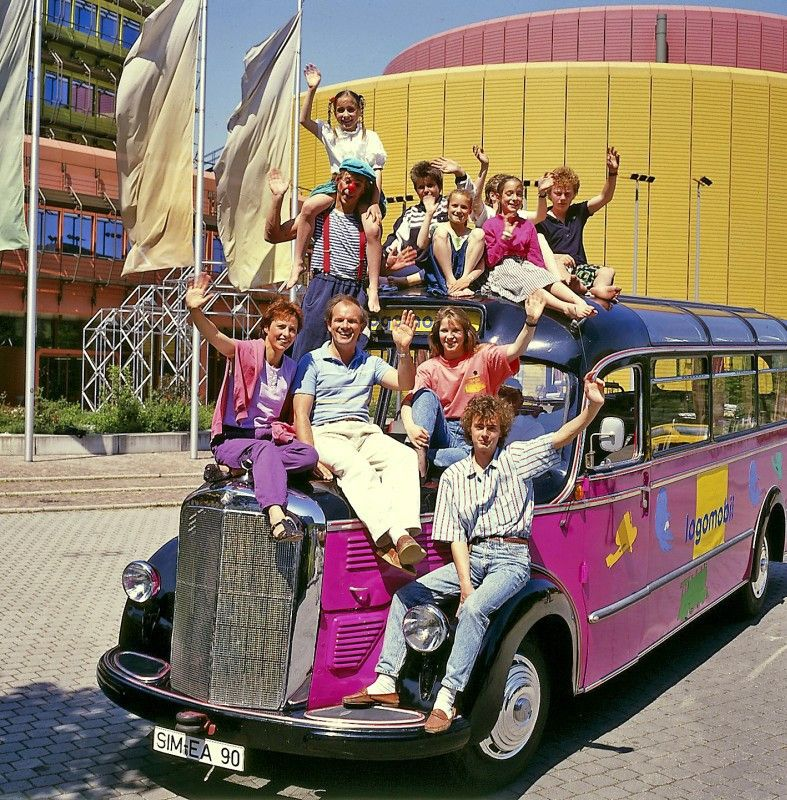 Die erste Sommertour: 1989 ging das logo!-Team erstmals mit dem ZDF-Logomobil auf Deutschlandtour.