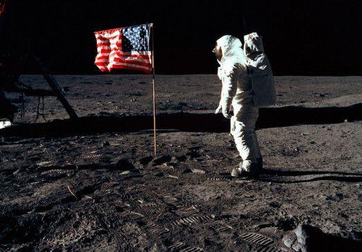 Abenteuer Weltall: Mit Apollo 11 erreichten Neil Armstrong, Buzz Aldrin (Foto) und Michael Collins 1969 den Mond.