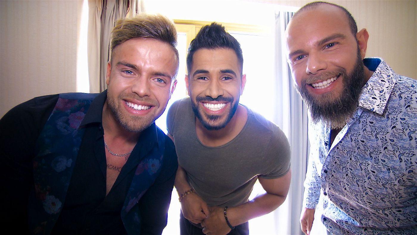 Andreas, Mudi und Oggy haben ihr bestes Zahnpastalächeln aufgesetzt.