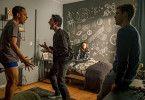 Yannick (Jerry Hoffmann), Musti (Reza Brojerdi), Hannah (Lea van Acken) und Tom (Lucas Reiber, von links) planen die Party des Jahrhunderts. Aber wie sollen sie das nur alles schaffen?