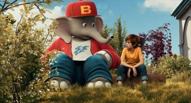 """Der Film """"Benjamin Blümchen"""" wurde fast gänzlich im Studio vor einem Greenscreen gedreht. So konnte der Zoo so gestaltet werden, wie man ihn aus den Zeichentrickfilmen kennt."""