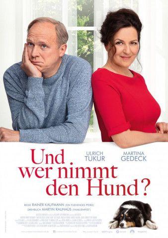 """Martina Gedeck und Ulrich Tukur in der neuen Komödie von Rainer Kaufmann """"Und wer nimmt den Hund?""""."""