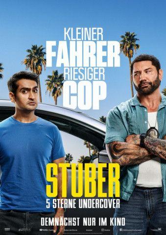 """Action und Humor mit einem sehr ungleichen Duo: Kumail Nanjiani und Dave Bautista in """"Stuber - 5 Sterne Undercover""""."""
