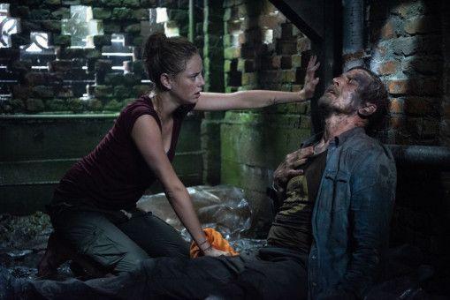 Haley (Kaya Scodelario) findet ihren Vater Dave (Barry Pepper) bewusstlos im Keller des ehemaligen Familienanwesens.