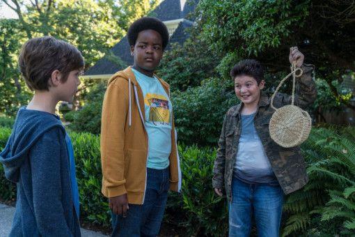 """Max (Jacob Tremblay), Lucas (Keith L. Williams) und Thor (Brady Noon, von links) haben """"Beute"""" gemacht."""
