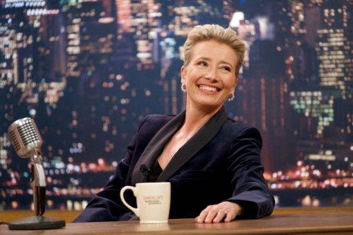 """Katherine (Emma Thompson) moderiert seit Jahren die Show """"Tonight with Katherine Newbury""""."""