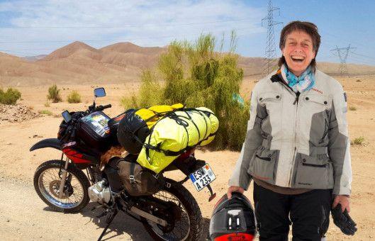 Auch ohne Motorradführerschein in der Tasche durfte Margot Flügel-Anhalt die kleine Reiseenduro fahren.