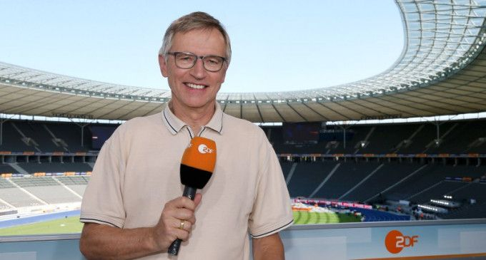 ZDF-Leichtathletik-Moderator Norbert König (hier im Olympiastadion Berlin).