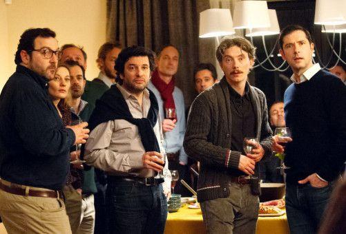 """Mit dem Verein """"La Parole Liberée"""" wollen François (Denis Ménochet), Gilles (Éric Caravaca), Emmanuel (Swann Arlaud) und Alexandre Guérin (Melvil Poupaud, von links), anderen Opfern eine Stimme geben."""