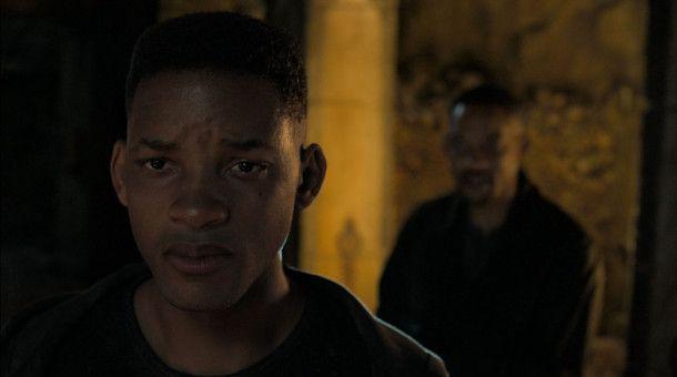 In Budapest kommt es in einer Gruft zu einer handfesten Konfrontation zwischen Henry Brogan (Will Smith, hinten) und seinem jüngeren Ebenbild Junior (ein digital erzeugter Will Smith).