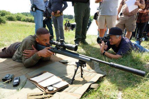 Regisseur Ang Lee (rechts) fängt seinen Hauptdarsteller Will Smith aus nächster Nähe ein.