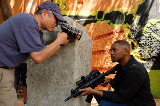 """Regisseur Ang Lee (links) drehte """"Gemini Man"""" - mit einem echten Will Smith und mit dessen digitalem Klon."""