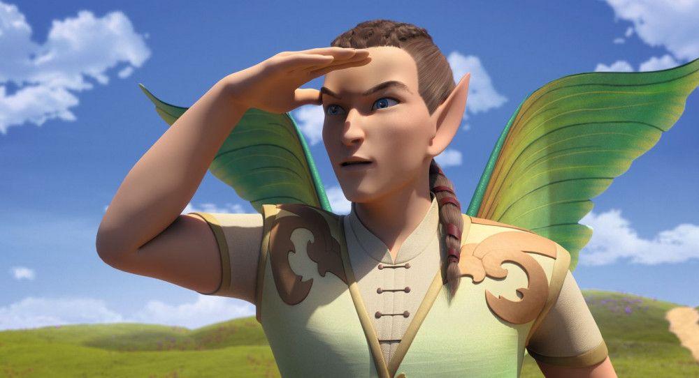 Falaroy, der Leibwächter von Eyela, wittert Gefahr.