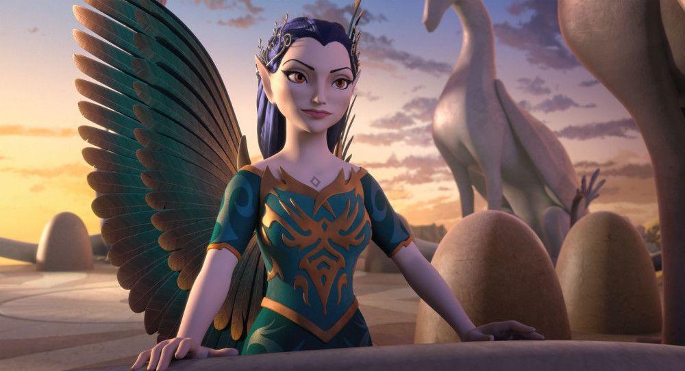 Die Schattenelfen-Königin Ophira herrscht über ihr dunkles Reich.