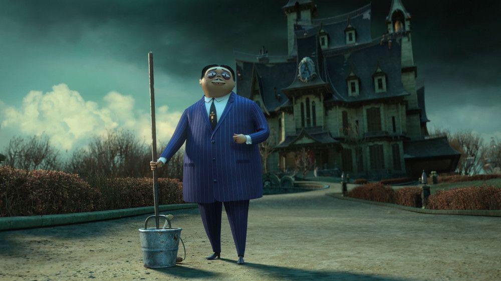 Gomez Addams hat sich in seinem neuen Zuhause gut eingelebt.