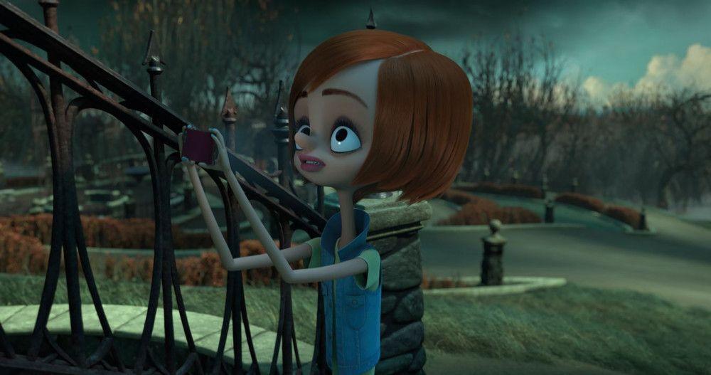 Margaux Needlers Tochter Parker erkundet das Anwesen der Addams.