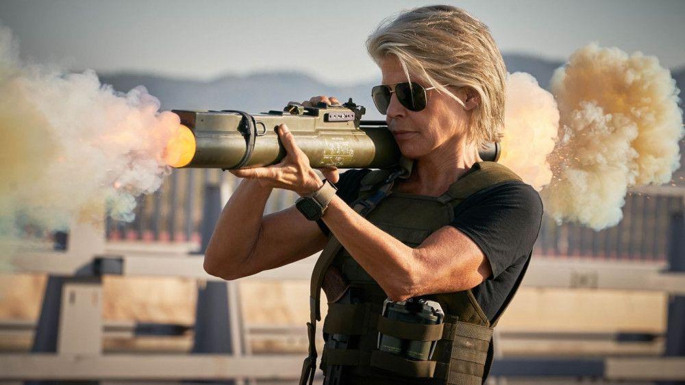 Sarah Connor (Linda Hamilton) ist so schlagkräftig wie eh und je.