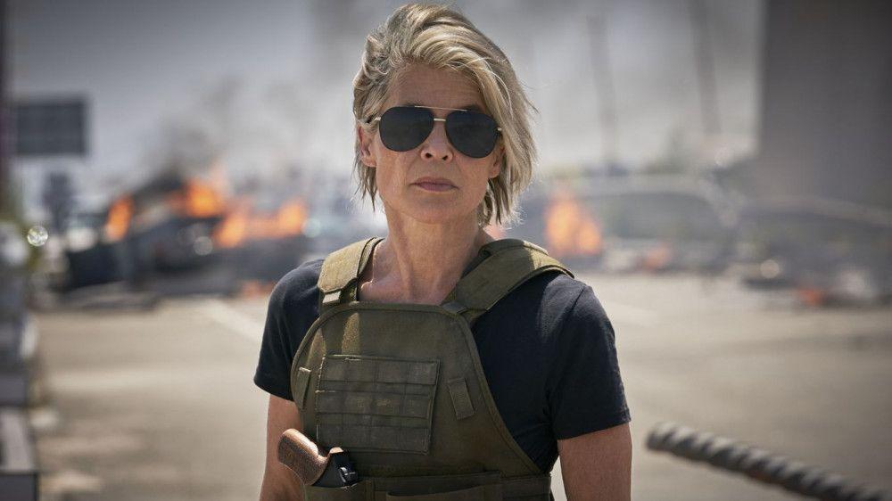 """""""Ich hatte Angst, es zu versauen"""", gestand Linda Hamilton. Doch in """"Terminator: Dark Fate"""" spielt sie die Rolle der Sarah Connor noch einmal mit Bravour."""