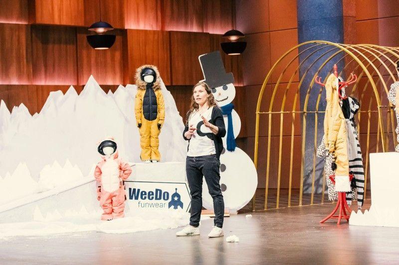 """<b>Folge 9:</b> Die """"WeeDo Funware""""-Schneeanzüge für Kinder von Antje Risau sollen sich nicht nur durch ihre Designs von der Masse abheben, sondern sie haben auch ein paar praktische Features. Wie den Taillenzipper, der einen schnellen Toilettenstopp ermöglicht, ohne gleich den ganzen Schneeanzug ausziehen zu müssen."""