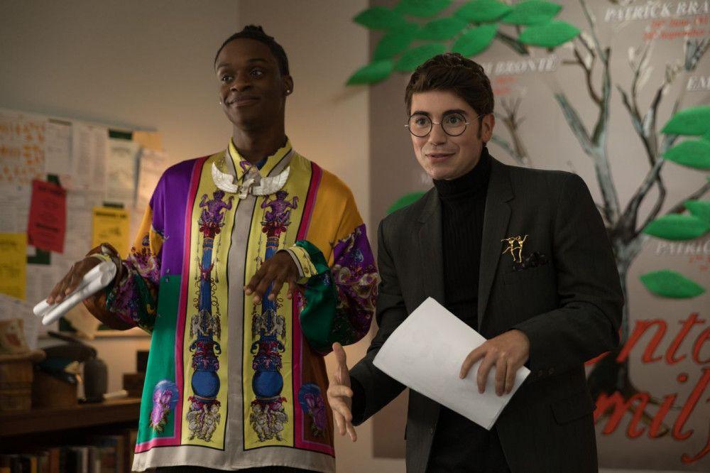 Alan (Austin Crute, links) und George (Noah Galvin) leiten das Schultheater. Ihre Stücke will allerdings fast niemand sehen.