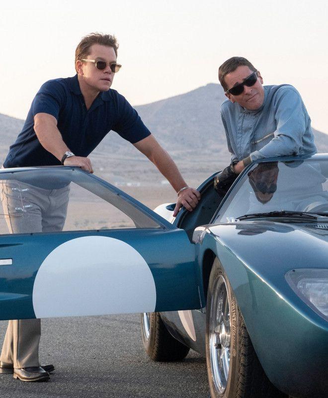 Der Entwickler Carroll Shelyb (Matt Damon, links) und der Rennfahrer Ken Miles (Christian Bale) sind fest entschlossen, Ferrari beim großen 24-Stunden-Rennen von Le Mans zu besiegen.
